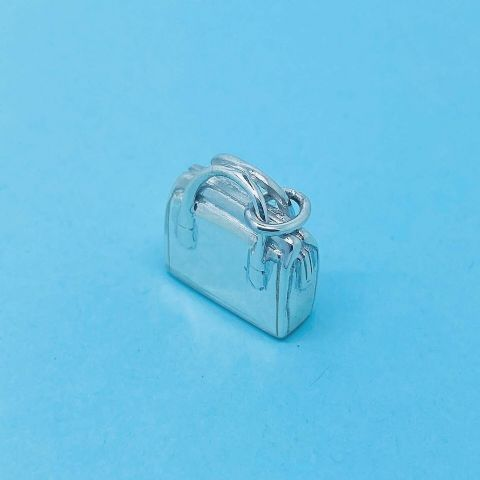 Genuine 925 Solid Sterling Silver Heavy Handbag Charm